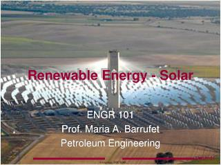 Renewable Energy - Solar