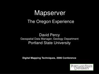 Mapserver   The Oregon Experience