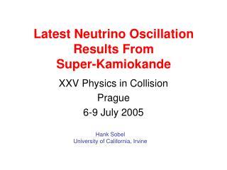 Latest Neutrino Oscillation Results From Super-Kamiokande