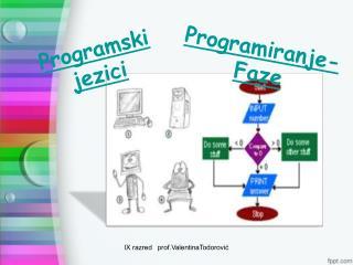 Programiranje -Faze