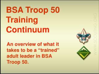 BSA Troop 50 Training Continuum