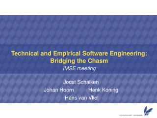 Technical and Empirical Software Engineering: Bridging the Chasm