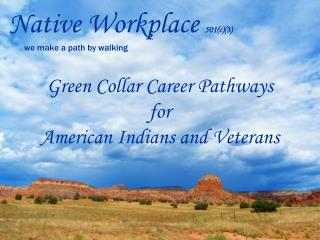 Native Workplace  501(c)(3)        we make a path by walking