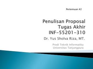 PROPOSAL PENELITIAN
