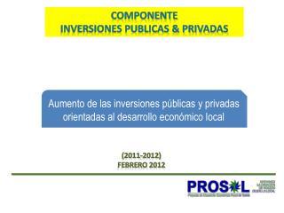 COMPONENTE  INVERSIONES PUBLICAS & PRIVADAS