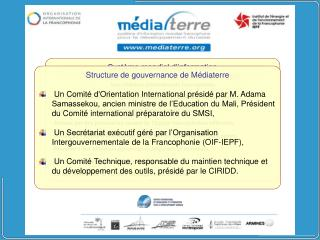 Syst�me mondial d�information francophone pour le d�veloppement durable