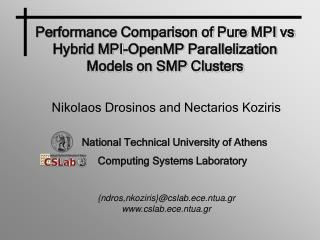 Performance Comparison of Pure MPI vs Hybrid MPI-OpenMP Parallelization Models on SMP Clusters
