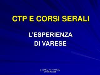 CTP E CORSI SERALI
