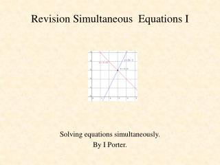 Revision Simultaneous  Equations I