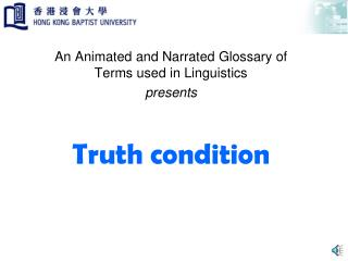 Truth condition