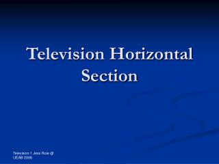 Television Horizontal Section