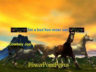 Zet a box'kes moar oan