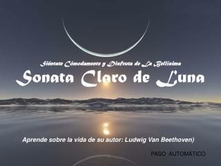 Siéntate Cómodamente y Disfruta de La Bellísima Sonata Claro de Luna