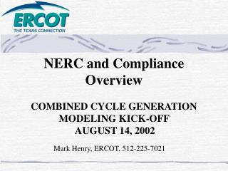 NERC and Compliance Overview