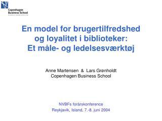 NVBFs forårskonference Reykjavik, Island, 7.-8. juni 2004