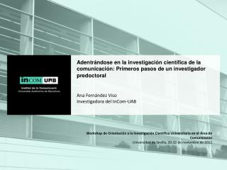 Workshop  de Orientación a la Investigación Científica Universitaria en el Área de Comunicación