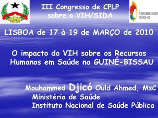 III Congresso de CPLP sobre o VIH/SIDA
