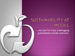 Sustainability at McGill