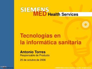 Tecnologías en  la informática sanitaria