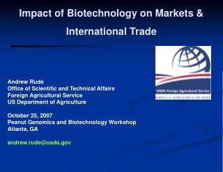 Impact of Biotechnology on Markets  International Trade