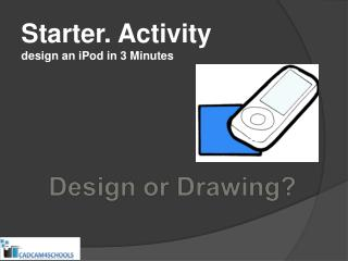 Starter. Activity design an iPod in 3 Minutes