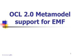 OCL 2.0 Metamodel support for EMF
