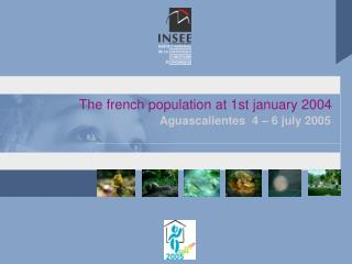 The french population at 1st january 2004