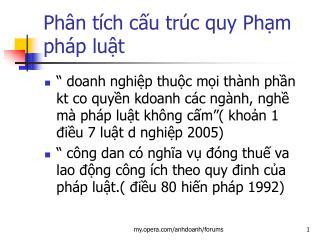 Ph n t ch cu tr c quy Phm ph p lut