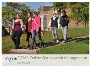 OCM2 Online Coursework Management
