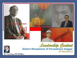 Sistem Manajemen di  Perusahaan  Unggul 16 March2013