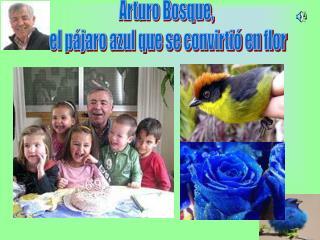 Arturo Bosque,  el pájaro azul que se convirtió en flor