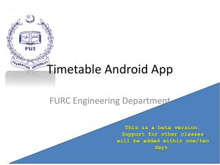 Timetable Android App