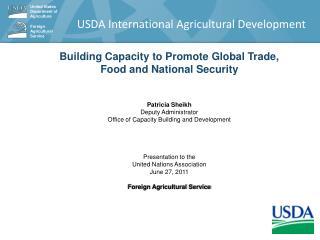 USDA International Agricultural Development