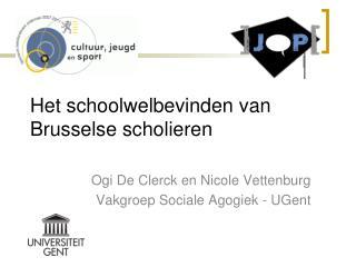 Het schoolwelbevinden van Brusselse scholieren
