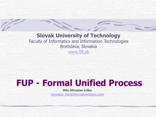 FUP - Formal Unified Process