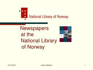 Newspapers           at the           National Library     of Norway