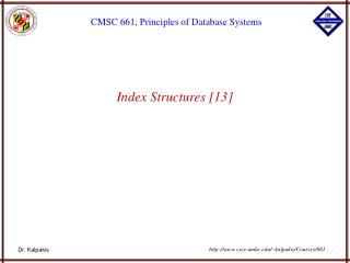 Index Structures [13]