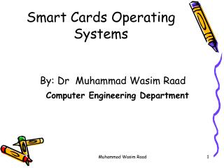 Smart Cards Operating Systems
