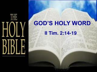 GOD'S HOLY WORD