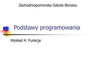 Podstawy programowania