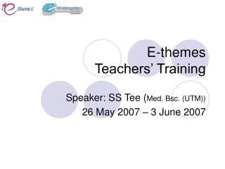 E-themes Teachers' Training