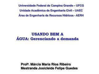 Universidade Federal de Campina Grande – UFCG Unidade Acadêmica de Engenharia Civil – UAEC