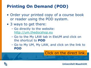Printing On Demand (POD)