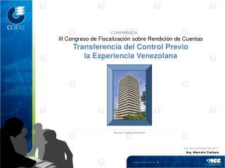 III Congreso de Fiscalización sobre Rendición de Cuentas Transferencia del Control Previo