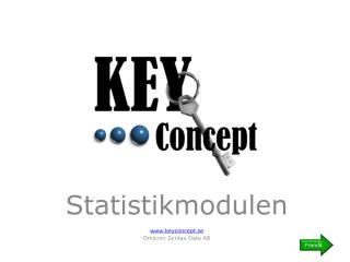 Statistikmodulen keyconcept.se Omicron Syntax Data AB