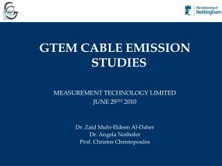 GTEM CABLE EMISSION STUDIES MEASUREMENT TECHNOLOGY LIMITED  JUNE 29 TH  2010