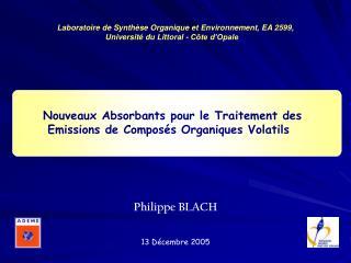 Nouveaux Absorbants pour le Traitement des Emissions de Composés Organiques Volatils