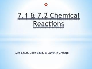 7.1 & 7.2 Chemical Reactions