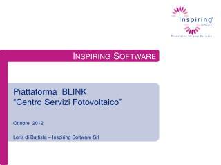 """Piattaforma  BLINK   """"Centro Servizi Fotovoltaico"""""""