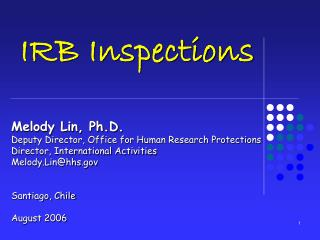 IRB Inspections